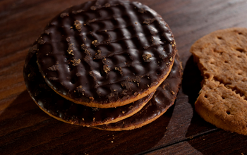Grid post chocolate digestive